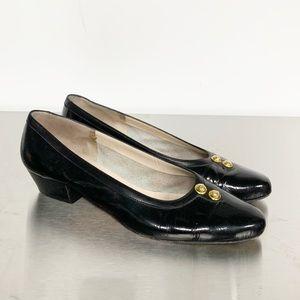 Salvatore Ferragamo | Black Patent Leather Heel